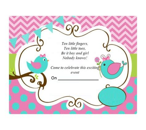 17 Free Gender Reveal Invitation Templates ᐅ Template Lab Gender Reveal Invitation Template