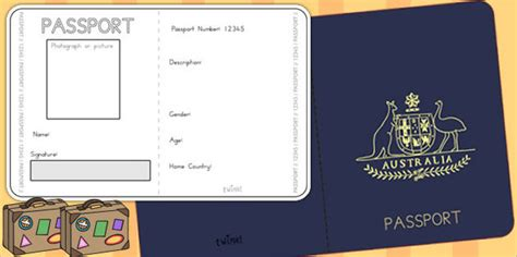 24 Passport Templates Free Pdf Word Psd Designs Children S Play Passport Template