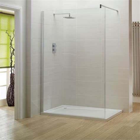 Stainless Steel Shower Stall by Moods 800mm 8mm Safety Glass Rooms Shower Enclosure With Stainless Steel Support Bracket