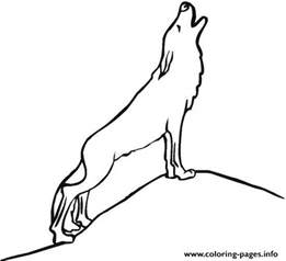 howling wolf coloring pages simple howling wolf coloring pages printable