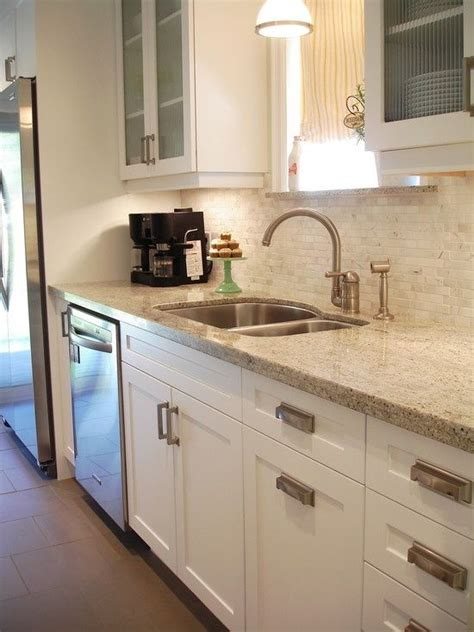 Kashmir White Kitchen by Kashmir Gold Granite White Cabinets For The Home