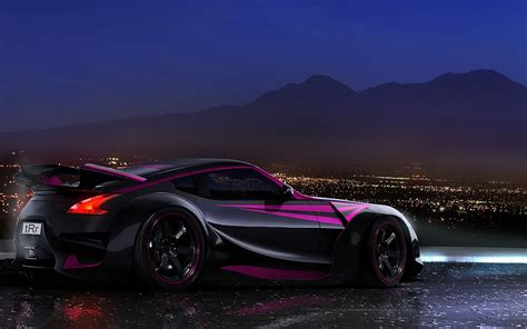 black nissan sports car black sports car wallpaper wallpapersafari