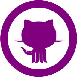 purple github  icon  purple site logo icons