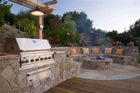backyard grill area veneer for outdoor kitchens landscaping network