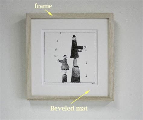 How To Mat And Frame Artwork by Bradhallart How To Frame A Pencil Drawing