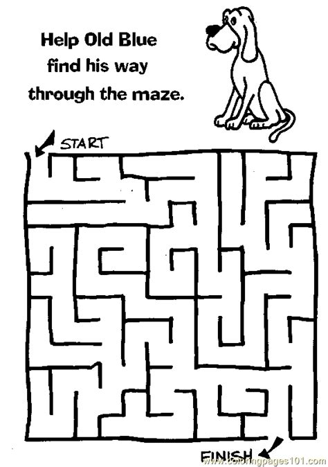 maze 50 coloring page free mazes coloring pages