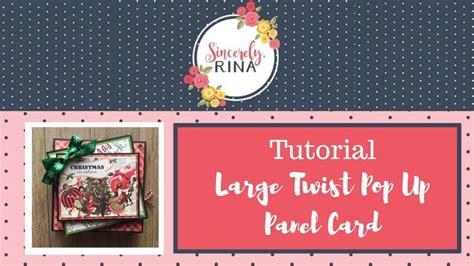 tutorial xp 3 2 1 large twist pop up panel card tutorial cards pop up