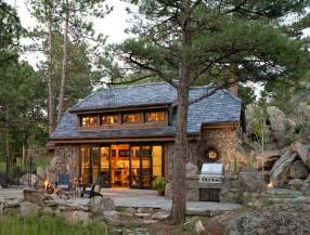 Colorado House Plans by A Small Stone Guest Cottage In Colorado