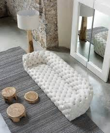 tufted white leather sofa foter