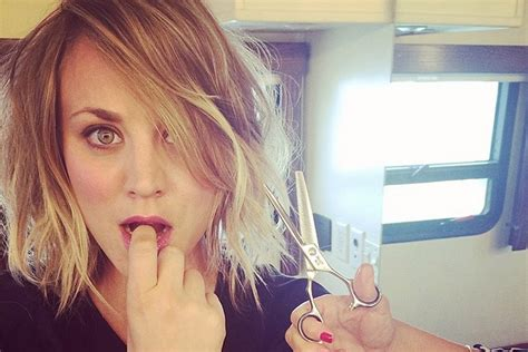 who vam wear a haircut like penny kaley cuoco sweeting chops off her locks page six