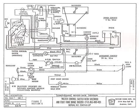 ezgo electric golf cart wiring diagram wiring diagram