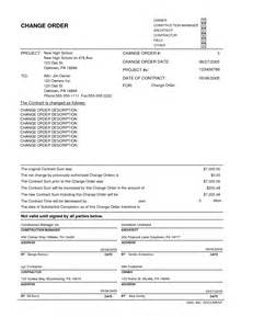 contractor change order form template doc 585685 change order template change order template