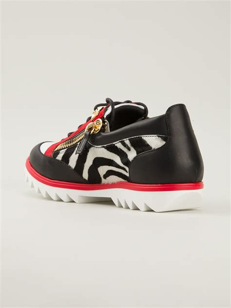 giuseppe sneakers for giuseppe zanotti zebra print sneakers in black for lyst