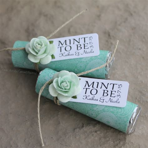 Wedding Mints by Mint Wedding Favors Set Of 24 Mint Rolls Mint To