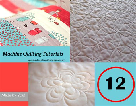 Line Machine Quilting Tutorial by Quackadoodle Quilt 12 Machine Quilting Tutorials