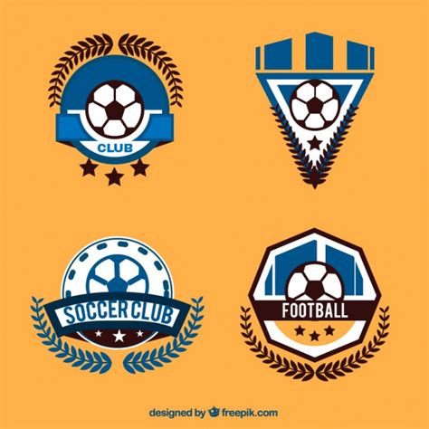 edit football logo football logos collection vector free