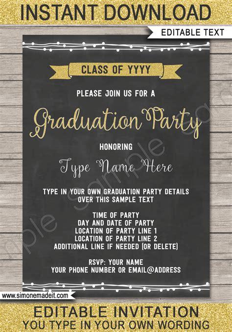 graduation party printables invitations decorations