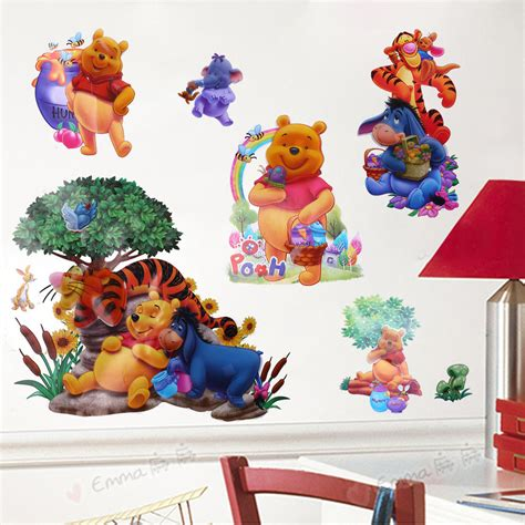 winnie the pooh home decor cartoon winnie the pooh tiger art wall stickers decals