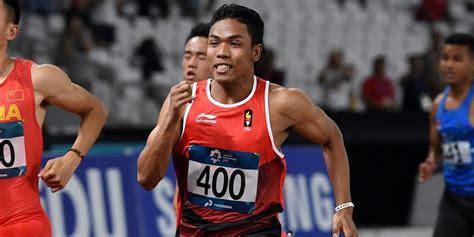 muhammad zohri rebut emas  kejuaraan nasional atletik  bolanet