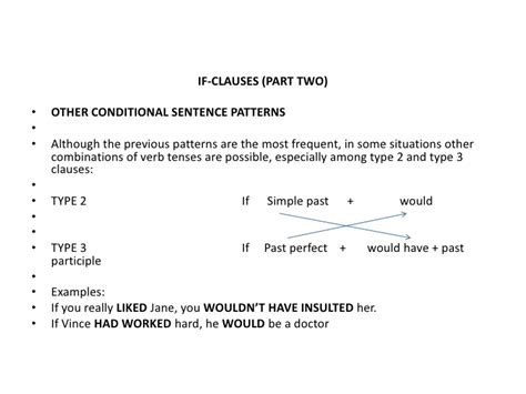 if clauses pattern 3 if clauses