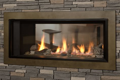 Sided Gas Log Fireplace by Valor L1 2 Sided Linear Series