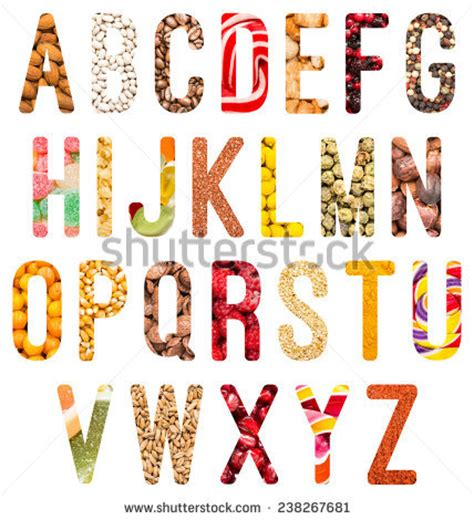 up letter with food fruit and vegetable alphabet stock photos images