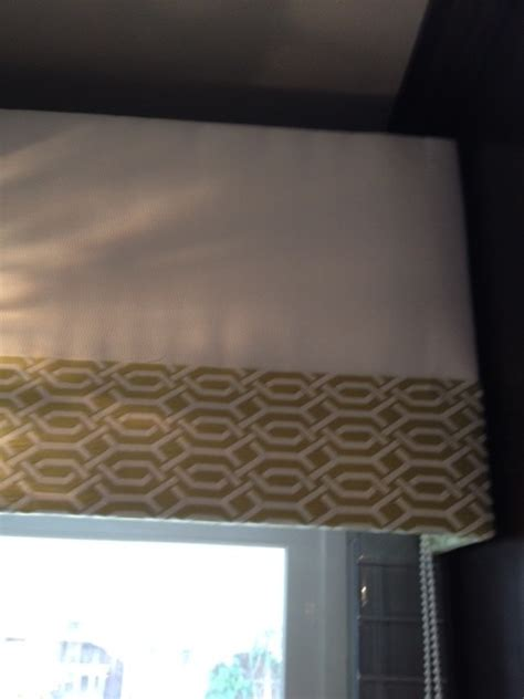 Fabric Covered Valance fabric covered cornice valance