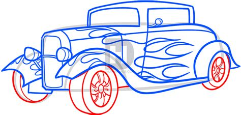 how to draw a rod step by step cars draw cars how to draw a rod step by step drawing guide by