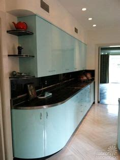 robert and caroline s mid century home with dreamy st aqua ge metal kitchen cabinets for sale on the forum