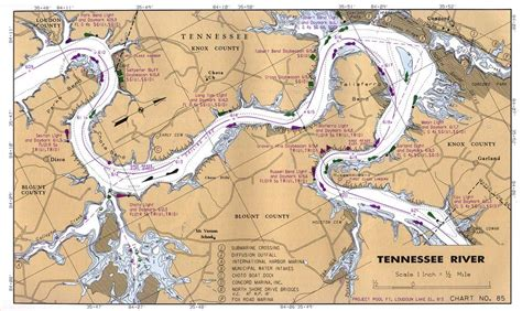 tennessee river map maps