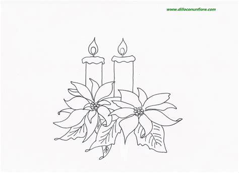 candele natalizie da colorare fiori da colorare per natale 2015 mimose da colorare per
