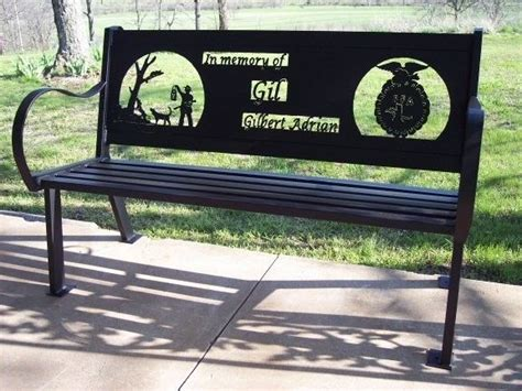 commemorative benches custom made memorial bench by hooper hill custom metal designs custommade com