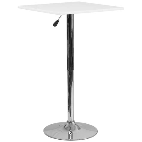 adjustable height square table adjustable square highboy cocktail table r products