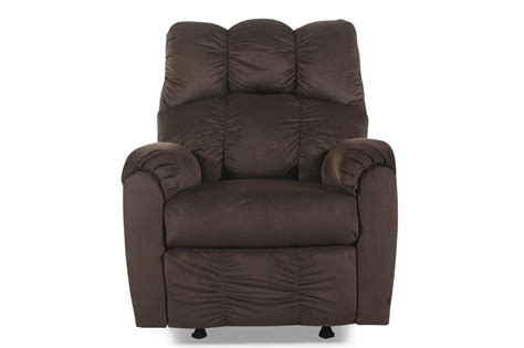 ashley furniture rocker recliner ashley raulo chocolate rocker recliner mathis brothers