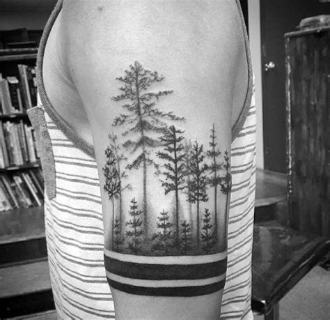 treeline tattoo 50 tree line design ideas for timberline ink