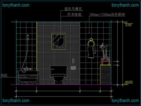 restroom cad blocks elevation of toilet plan view side