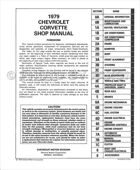 auto repair manual online 1958 chevrolet corvette electronic throttle control 1979 chevrolet corvette repair manual on cd rom