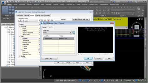 tutorial autocad civil 2010 autocad civil 3d 2015 tutorial tool space settings