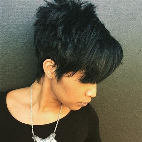 short at back longer at front choppy womens hair african american hairstyles short front long back hairstyles
