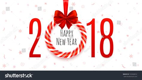 new year cards 2018 template happy new year 2018 background stock vector 722560012