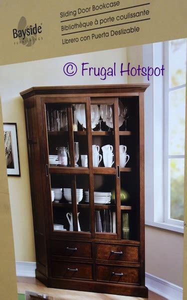 Bayside Furnishings Bookcase Costco Bayside Furnishings Sliding Door Bookcase 499 99