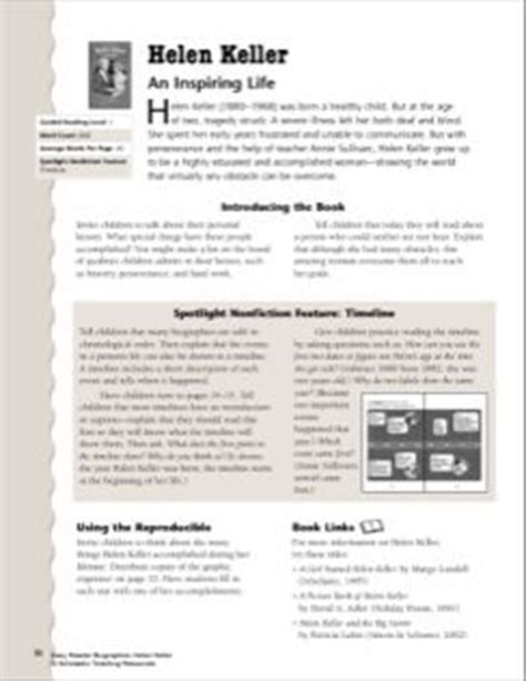helen keller biography for third grade helen keller lesson plan worksheet reading to learn