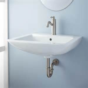 wall mount sink bathroom signature hardware darby porcelain wall mount bathroom