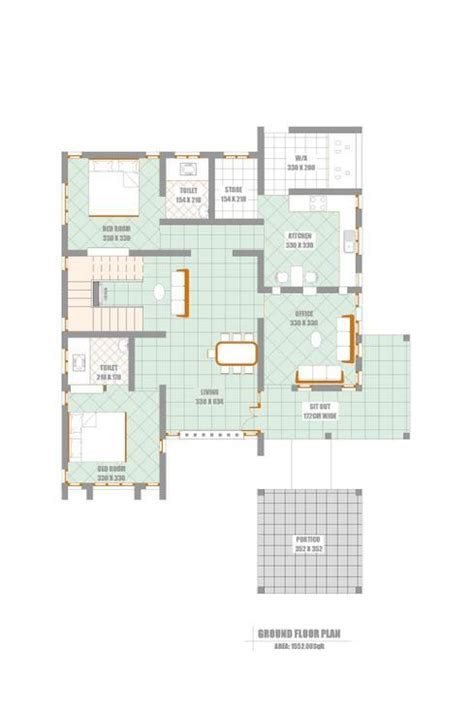 Kerala Home Design Floor Plans Unique Elevation With Kerala House Plan At 2300 Sq Ft