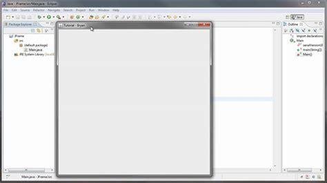 how to create a frame in java using swings java jframe tutorial 1 youtube