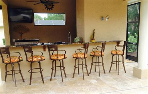 34 Outdoor Bar Stools by Outdoor 34 Inch Aluminum Bar Stool With Arms