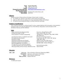 Doc.#11181600: Example Resume Latest Resumes Samples