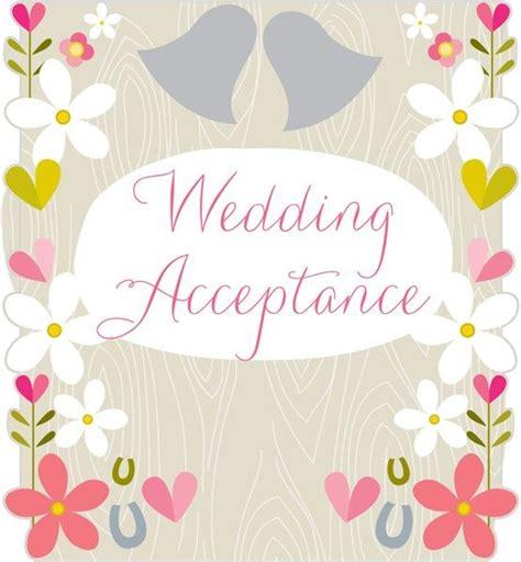 retro wedding acceptance cards flowers horseshoes wedding acceptance card karenza paperie