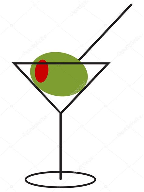 martini illustration martini with large olive stock vector 169 smartcooky