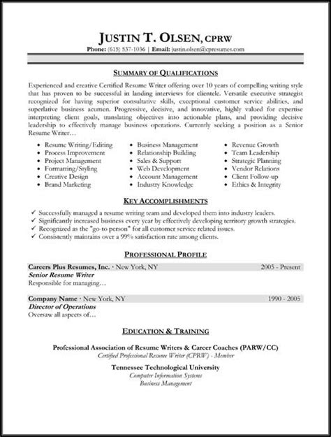 targeted resume template resume sles types of resume formats exles and